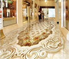 Papier peint 3d personnalisé, toutes tailles, design haut de gamme, or aristocratique, décoration pour la maison, mosaïque de pierres roses