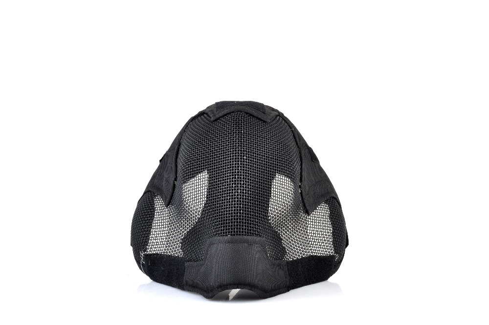 V6 Steel Net Mesh Fencing Mask Full Face protective tactical Mask Drop Shipping tactical steel mesh protective mask for war game green