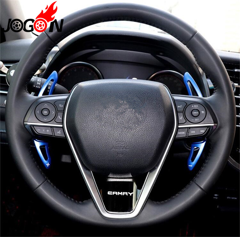hight resolution of car steering aluminium alloy steering wheel dsg paddle shifters for toyota camry 2018 2019 in interior mouldings from automobiles motorcycles on