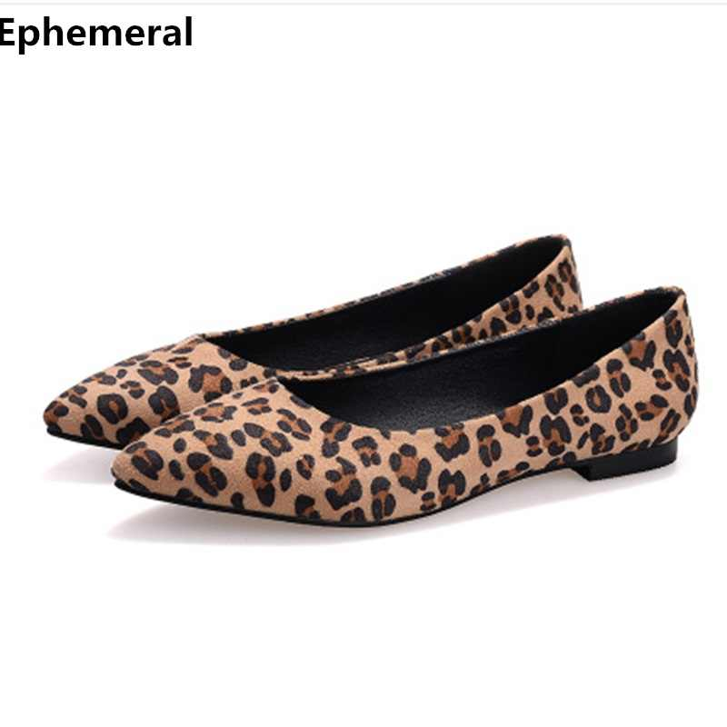 ab58b89e76 Women's printed Flock shoes breathable Spring slip ons Pointed toe No heels  black Wine Red Loafers