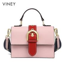 Viney kadın çantası 2019 yeni han baskı joker yıpranmış mini çanta moda basit el konşimento omuzdan askili çanta