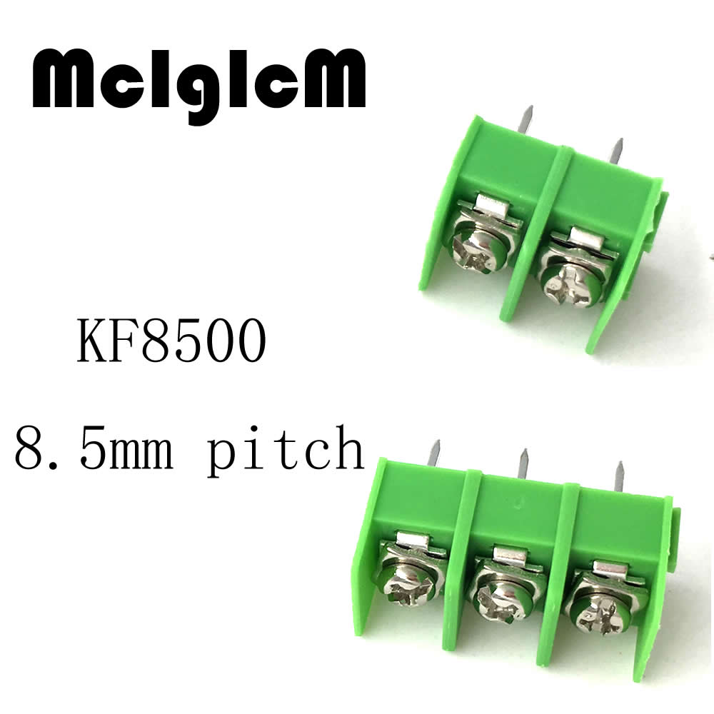 10pcs 8.5mm pitch connector KF8500 pcb screw terminal block connector 2 pin / 3 pin 10A 300V Free shipping