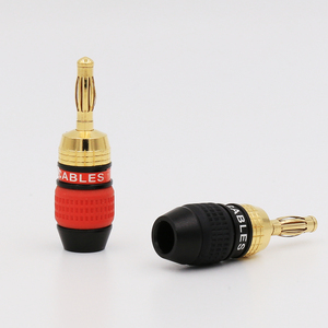 Image 2 - 8PCS Deadbolt Banana Plugs Gold Plated Speaker Wire Connector Plug