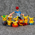 3styles 9pcs/set Anime Pikachu Pvc Figures Ash Ketchum Brock Misty With Pikachu PVC Figure Toys Dolls Christmas Gift For Kids
