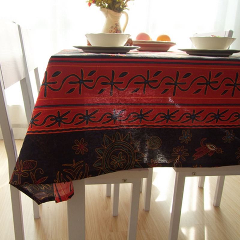 Southeast Asian Cotton Linen Table Cloth Red Black Clothing Home Decoration Resturant Bar Stylish Cover In Tablecloths From Garden