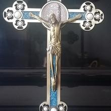 Католический крест из Иисус, Бог украшения святых распятие дома Украшения Иисуса, фигурка кафедральный собор ксилоидный
