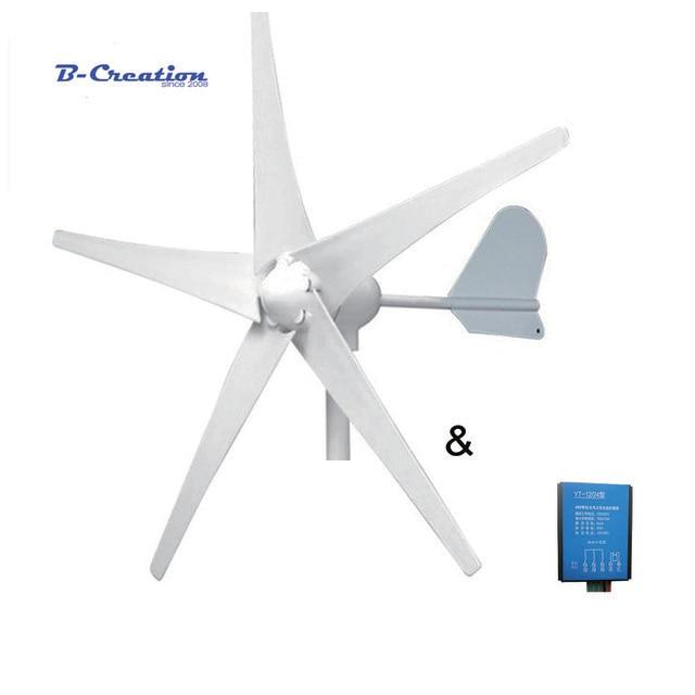 Générateurs éoliens 5/3 w à 500 pales. 12 V/24 V en option. Utilisé pour la terre et la marine. 3 ans de garantie