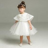 ABWE Best Sale DMfgd Newborn 0 24M Baby Girl Dresses With Shawl New Summer Kids Girl