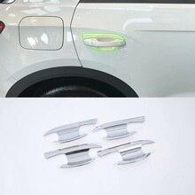 цена на Car Accessories Exterior Decoration 4pcs ABS Chrome Door Handle Bowl Cover Trims For Volkswagen T-ROC 2018 Car-styling