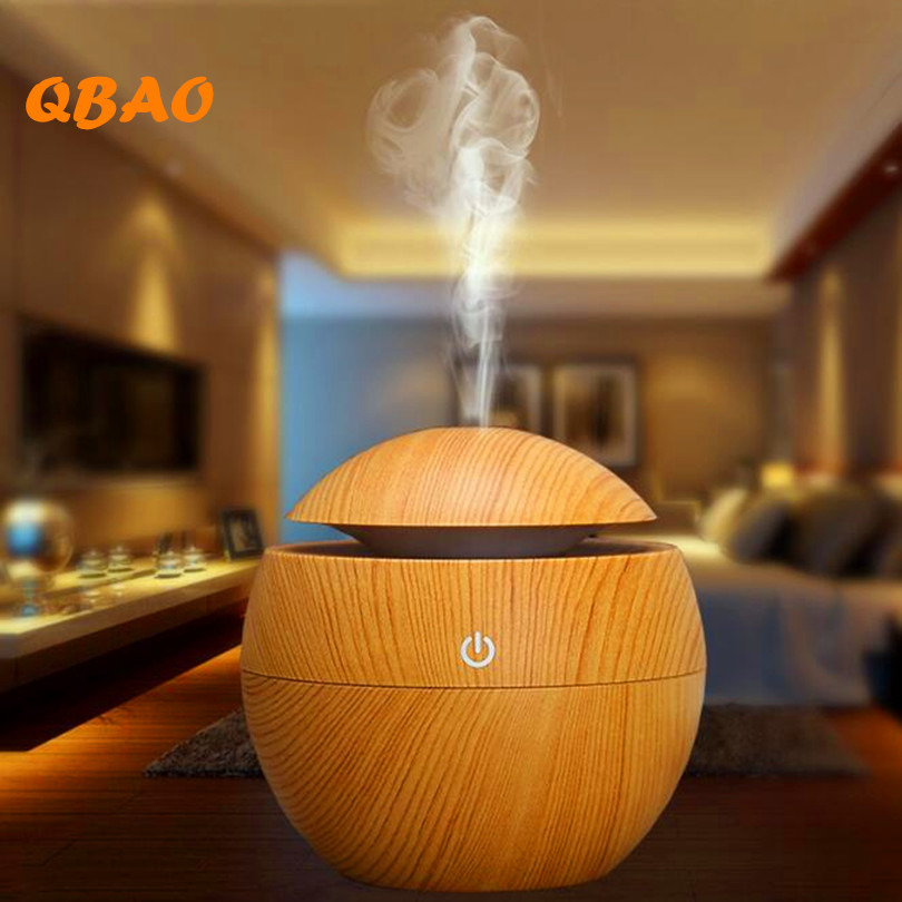 Wood Diffuser Aroma Ultrasonic Humidifier USB Power Lamp Touch Mist Discharge Aromatherapy Air Purifier Mist Maker For Household