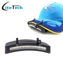 Caplights колпак clip-on белого головные ночная природе светильники туризм ремонт велоспорт