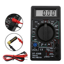 DT830B Multimeter Automatic Digital Multimetro For Volt Amp Ohm Tester Meter Voltmeter Ammeter Overload Protection With Probe цена