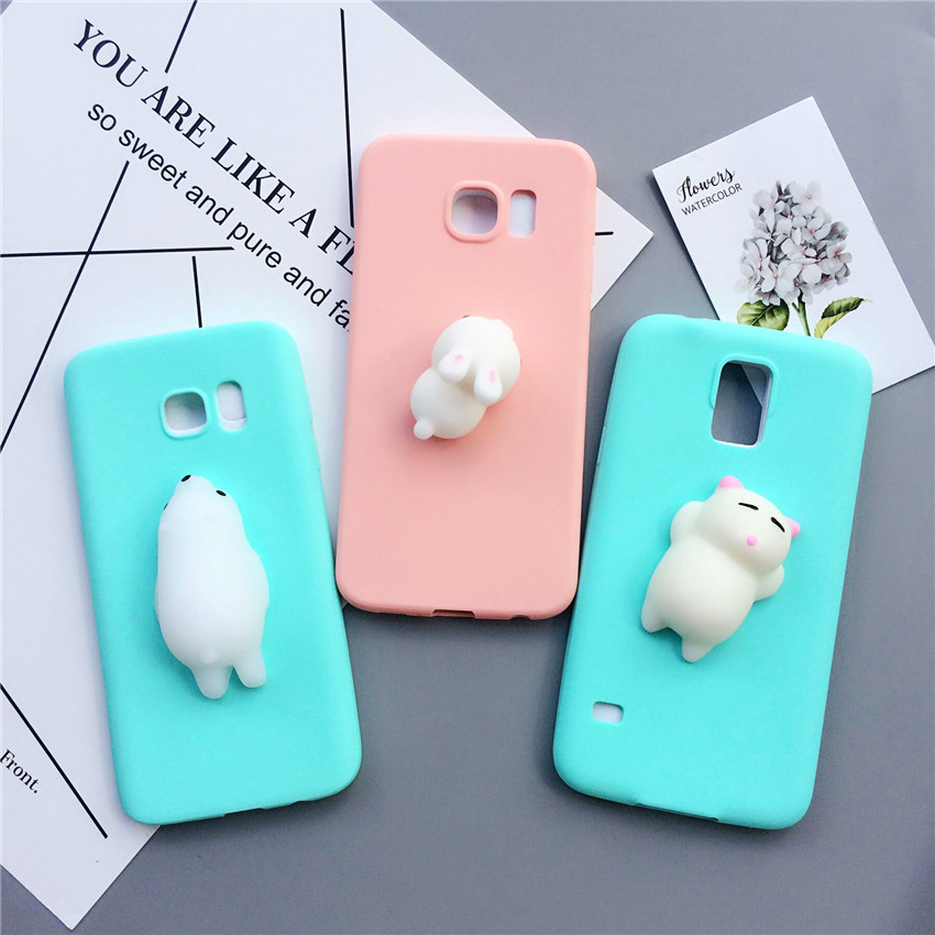Squishy Case : Candy Color Squishy Silicon Cartoon Soft Kneading Phone Case For Samsung S8plus S7edge S6edge ...