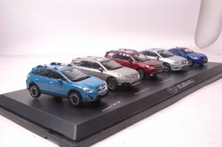 Set of Five 1:43 Diecast Model for Subaru Series XV Outback Forester Legacy BRZ Alloy Toy Car Miniature Collection Gifts