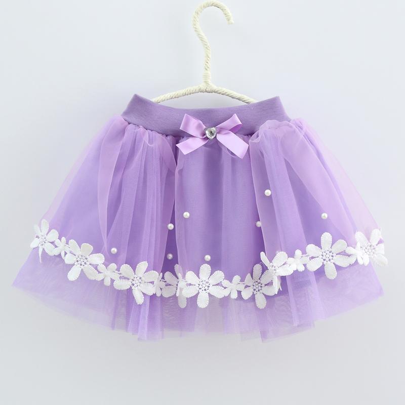 Цветок юбки для девочек бисером лук Летний стиль детская юбка 4 5 6 7 8 9 Для детей от 10 до 11 лет детские юбки для Обувь для девочек розового и фио...