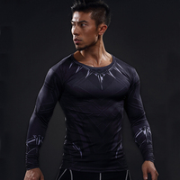 New 2017 Fitness cool sportswear Comic Superhero Compression Shirt Fit Tight Bodybuilding 3D T Shirt Long-sleeved clothes