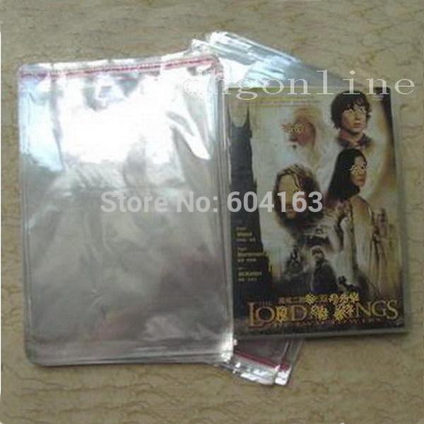200 STÜCKE Hohe Qualität DVD 14mm 30Mil OPP Plastiktasche Wrap kunststoff Ärmeln