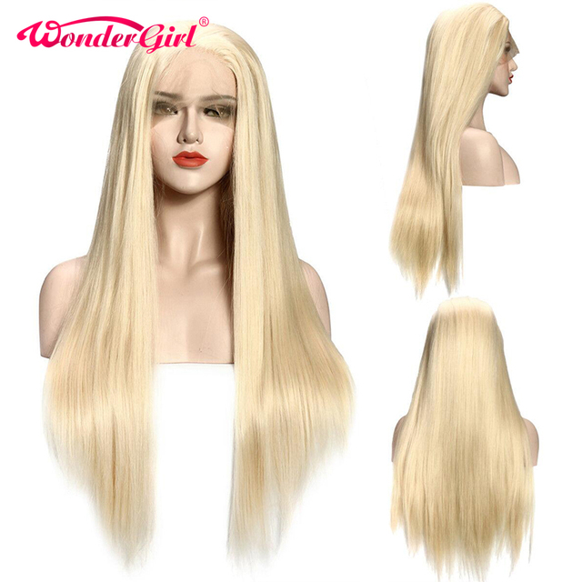 Glueless 613 Honey Blonde Preplucked Lace Front Human Hair Wigs For