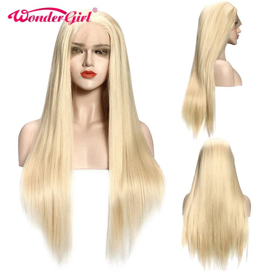 Glueless 613 мёд блондинка предварительно сорвал синтетические волосы на кружеве натуральные волосы Искусственные парики для черный для женщин