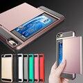 KISSCASE Прохладный Броня Чехол Для iPhone 7 4.7 ''Hybrid ТПУ + Пластик скрытый Слайд Слот Для Карт Памяти Обложка Для Apple iPhone 7 Plus 5.5''