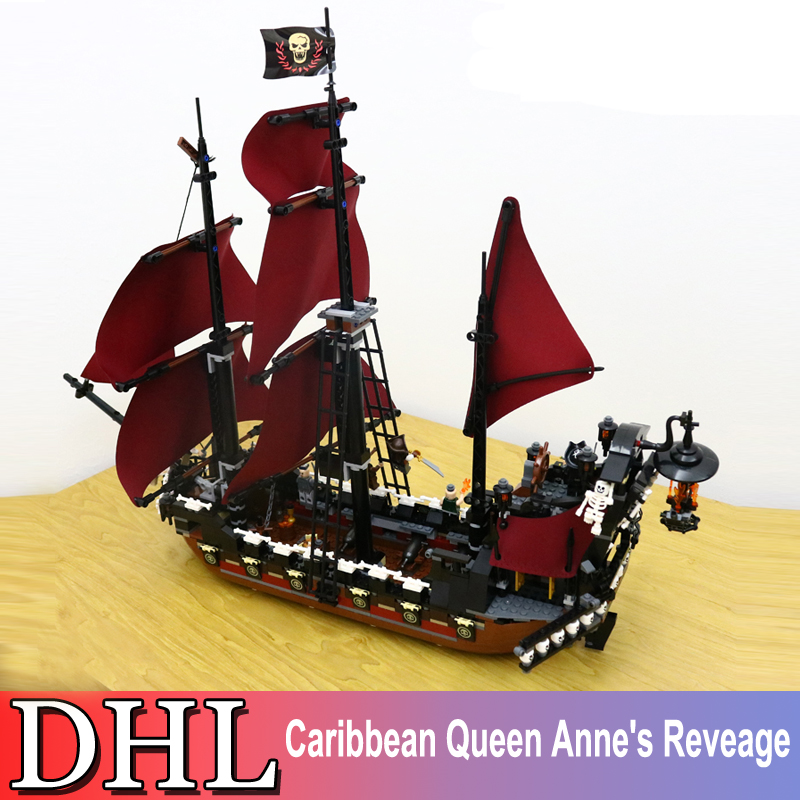 1151Pcs Pirates Of The Caribbean Figures Queen Anne's Reveage Building Model Blocks Bricks Set Toy For Children Compatible 4195 2017 new toy 16009 1151pcs pirates of the caribbean queen anne s reveage model building kit blocks brick toys