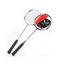 2016 Brand New 2Pcs Pair Carbon Fiber Badminton Racket Racquet With Carry Bag Raquete 2U Durable