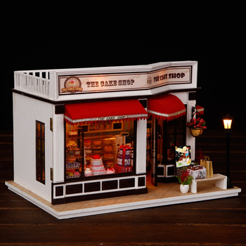 Minature Dollhouse Diy Wooden Doll House Casa Store Model With Furnitures Building Kits Christmas Gift Toys For Children K016 #