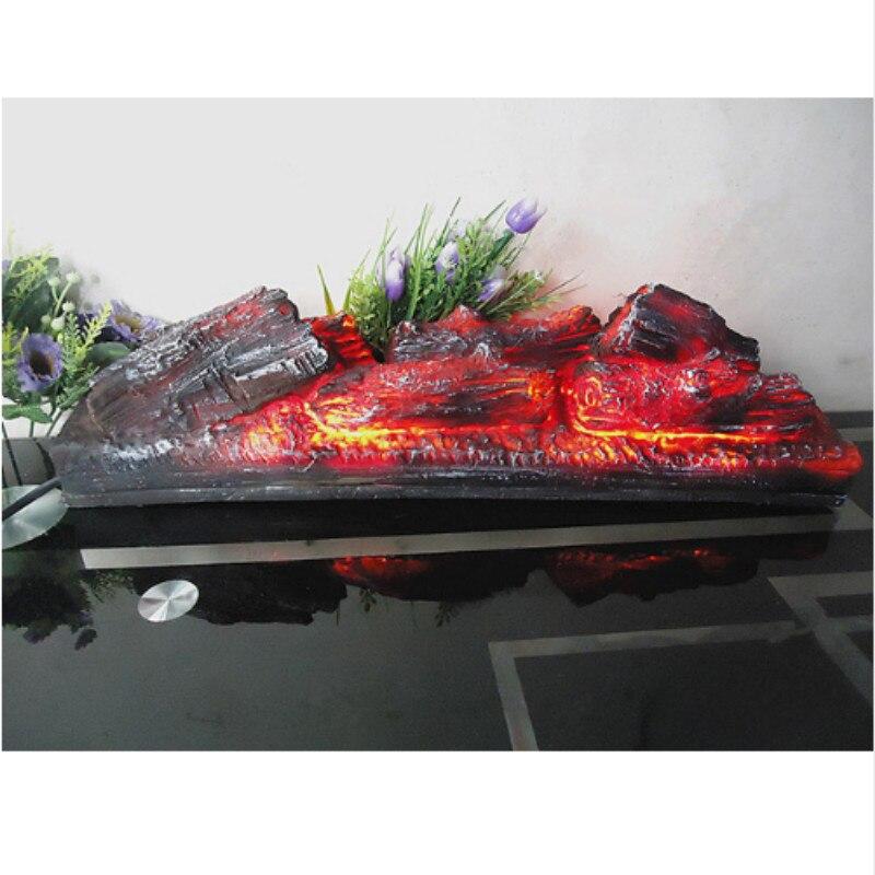 Cheminée électrique simulation charbon de bois faux bois de chauffage décoratif charbon de bois lampe musée exposition hall décorations WF601141