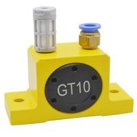 Free Shipping GT4 GT6 GT8 GT10 Industrial Pneumatic Vibrator Oscillator Air Rotary Turbine Driven Turbo Vibrator