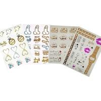 Hen Party Bachelorette Party Tattoo Sticker Hen Party Supplies Wedding Photo Props Decoration Bachelorette Party Accessories