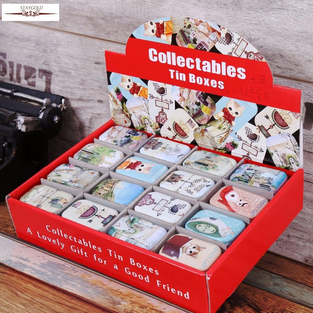 Storage-Box Decoration Collection-Display Pill-Chutty Zakka Candy Metal Vintage Cartoon