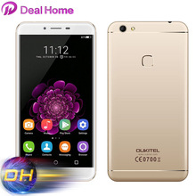 "5.5"" IPS Oukitel U15S 4G Mobile Phone 4G RAM+32G ROM MTK6750T Octa Core Smartphone Android 6.0 FingerPrint 16MP 8MP Cellphone"