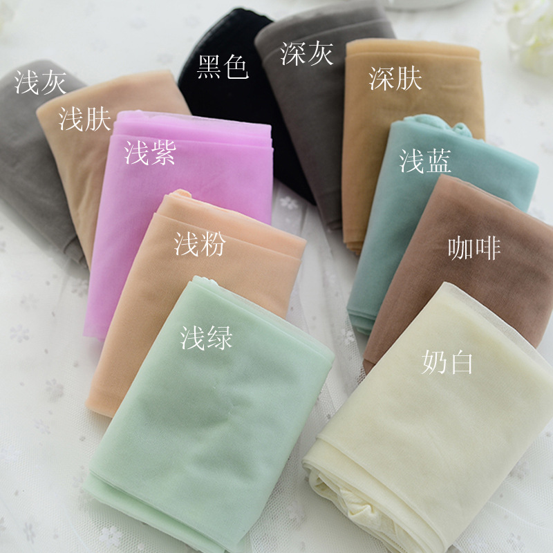 e15adf5e2c3 W726 ice cream color core spun yarn women girl tights Tiptoe transparent  resistance wire candy color tights pantyhose-in Tights from Women s  Clothing ...