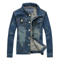 2017 New Spring L-4XL Men Jean Jacket Men Denim Jackets for Men Stand Collar 100% Cotton Outerwear Jean Jacket Men