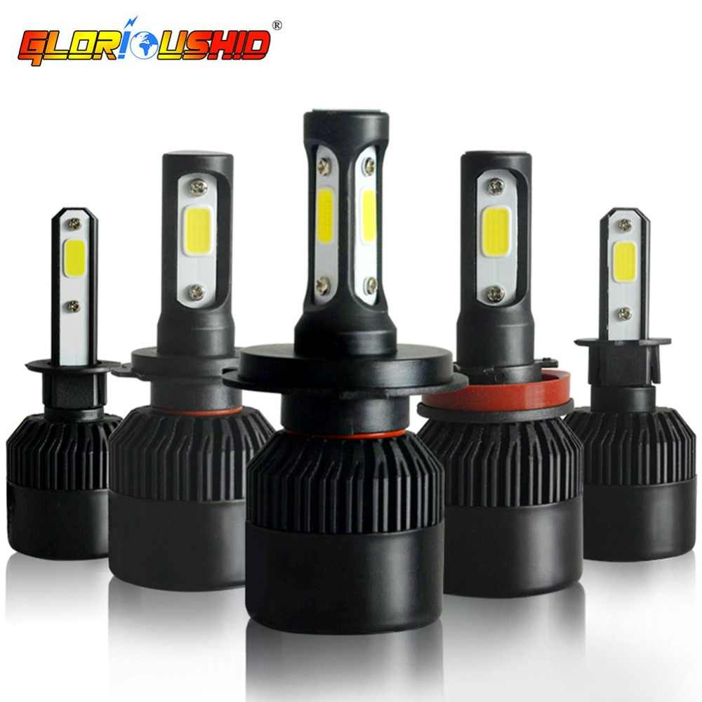 One Pair H4 Led Bulb H1 H11 H7 H3 H8 HB4 HB3 H27 881 9005 Car Led Headlight Bulbs 72W 8000LM Auto Headlamp 6000K Car Light