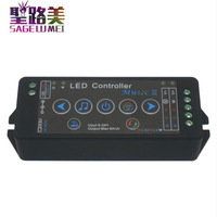 DC5V 24V 12V music 3 led controller mobile phone APP wifi controller Sensitivity Audio for SMD 5050 RGB RGBW led strip light