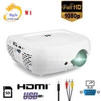 Byjotech W1 светодиодный проектор высокого разрешения 1080 P проектор домашнего кинотеатра 2800 люмен Домашний кинотеатр projetor видеопроектор Vs UC46 UC30