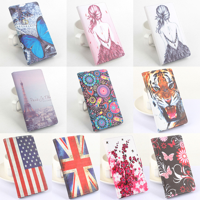 """Xiaomi redmi note 4X Case Cover 5.5"""" Luxury butterfly tower tiger wallet flip Leather protective cover for Xiaomi redmi note 4X"""