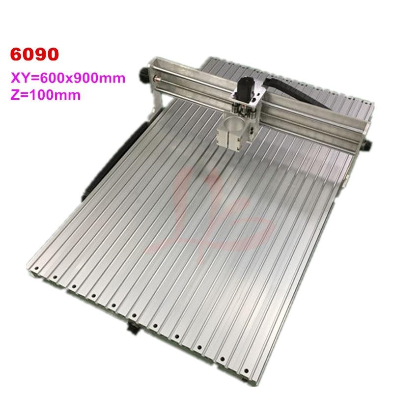 Machine cnc 6090 cadre en aluminium routeur de bois zone de travail 600x900x100mm fraisage graveur