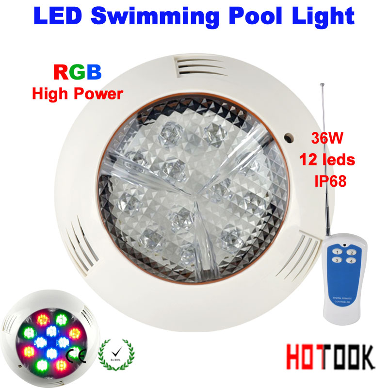 36W led swimming pool light IP68 12V 12leds Outdoor Lighting RGB led Underwater Lighting pond led piscina luz Warranty 2 years 2 years warranty 18w ac12v led underwater wall mounted swimming pool light ip68 2 pcs free shipping high quality