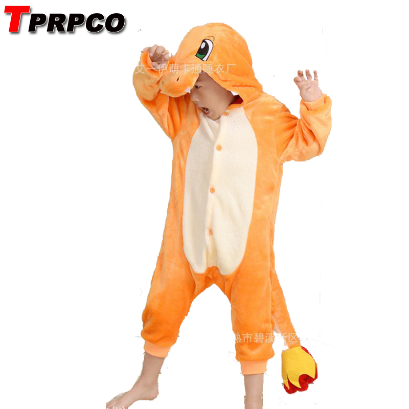 Pop anime pokemon Charizard jumpsuit Pajamas pyjamas costume charmander fire dragon Child Unisex Onesie Party kids onesie NL1381