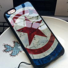 Captain America Superman Phone Case iPhone 7 6 6s 4.7 / 7 Plus  5 5S SE