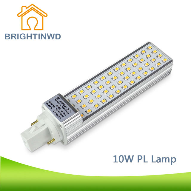 BRIGHTINWD LED PL Lamp CFL Light 2PIN Bulb Bar PLL G24 AC 85~265V LED Corn Lamp Commercial Downlight Indoor Light