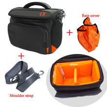 Waterproof Digicam Case Bag For Sony A5000 A5100 A6000 A6300 A6500 NEX-5T 5R 5N NEX-F3 3N NEX-6 A7R A7II + strap + Rain Cowl