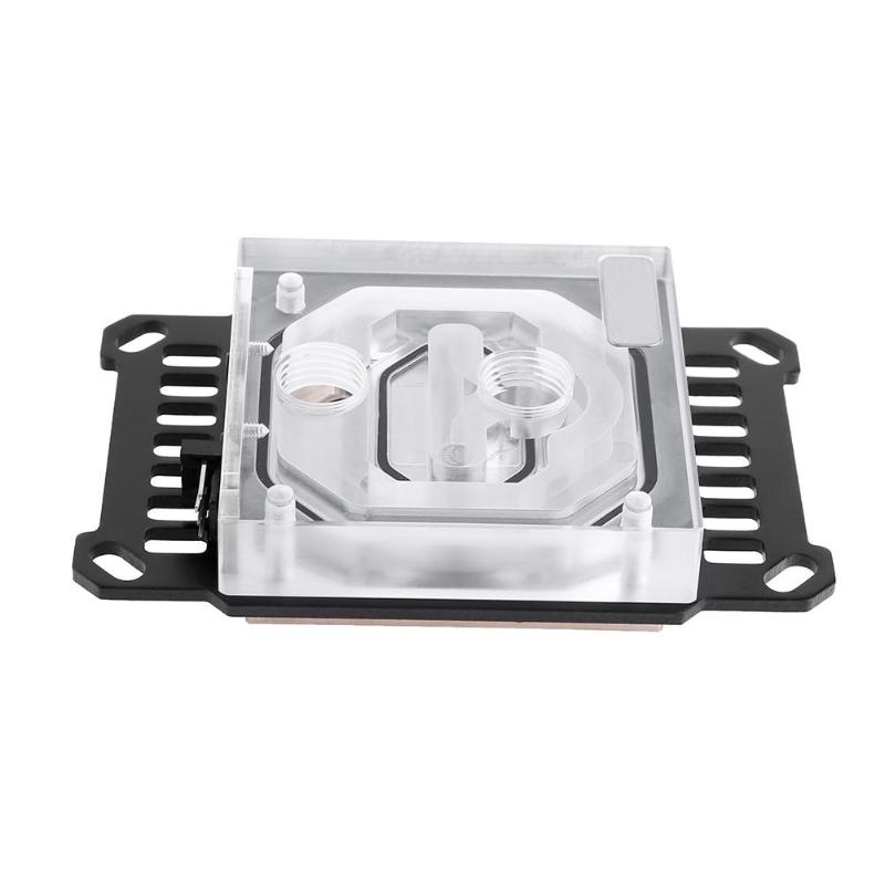 ALLOYSEED Clear Acrylic CPU Waterblock 0.4mm Microcutting Micro Waterway for AMD Series for Ryzen AM3 AM4