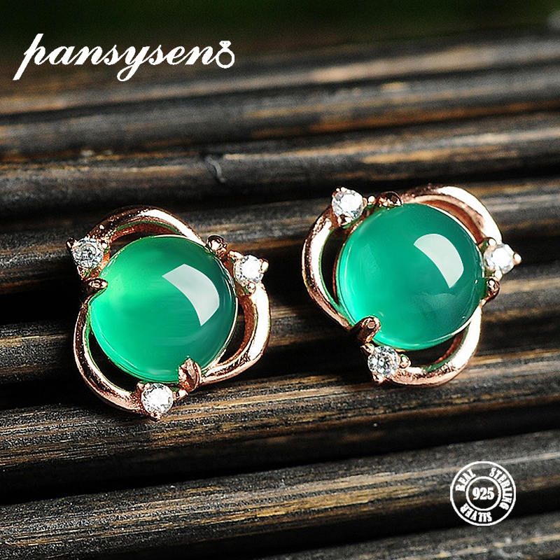 PANSYSEN Stud-Earrings Fine-Jewelry Green Women 100%925-Sterling-Silver Luxury Fashion