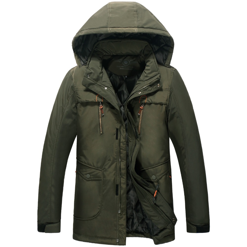 new obese men hooded down jacket in winter jacket coat ...