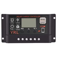 Solar Panel Controller Battery Charge Regulator 12V/24V Auto With Dual Usb(10A). цены