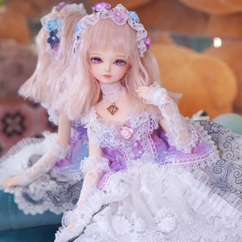 купить Fortune Days 1/4 MMGIRL bjd doll joint body with makeup reborn girls eye new dream lace princess set Blyth dolls toy по цене 7044.54 рублей
