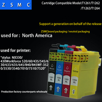4 color 1set  compatible EPSON 126  ink cartridge T1261 for workforce 520/635 printer